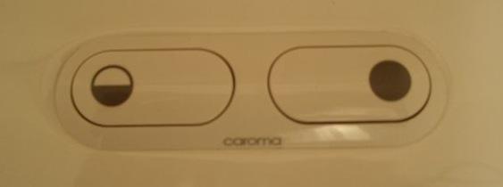 Caroma dual flush toilet