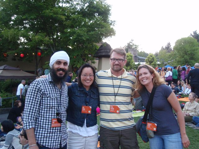 Sukhneet, Me, Sean and Michelle at the WDS Opening Party at the zoo