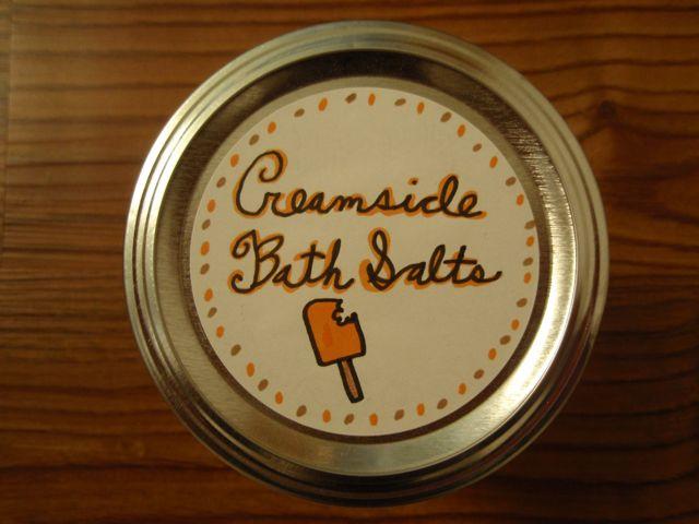 Creamsicle Bath Salt Label