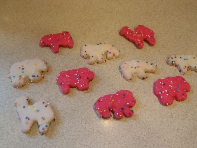 Iced Animal Cookies