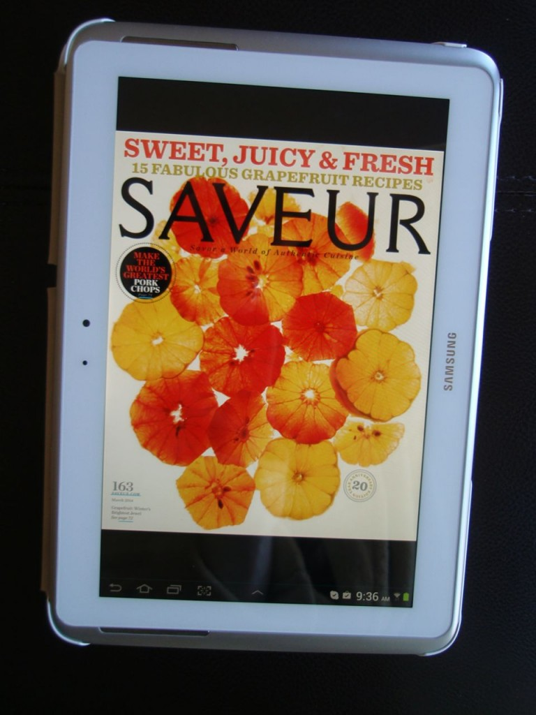 Saveur on tablet