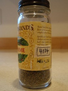 Thyme jar with TARE